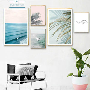 Tropical Vibes Canvas Wall Art - Apartment 201