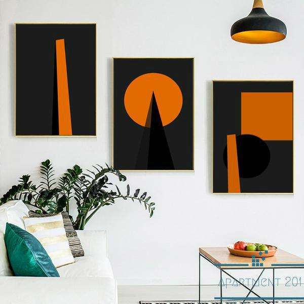 Geometric Patterned Wall Art - Apartment 201