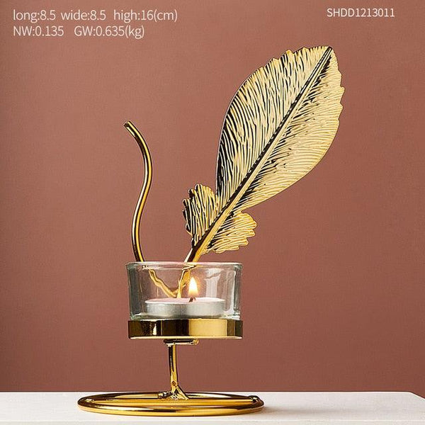 Golden Leaf Candle Holder - Apartment 201