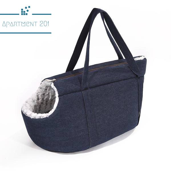 Denim Doggie Travel Bag - Apartment 201