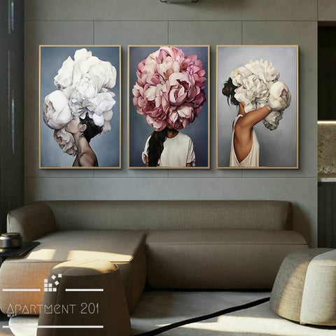 Lady Valentina Floral Canvas Wall Art