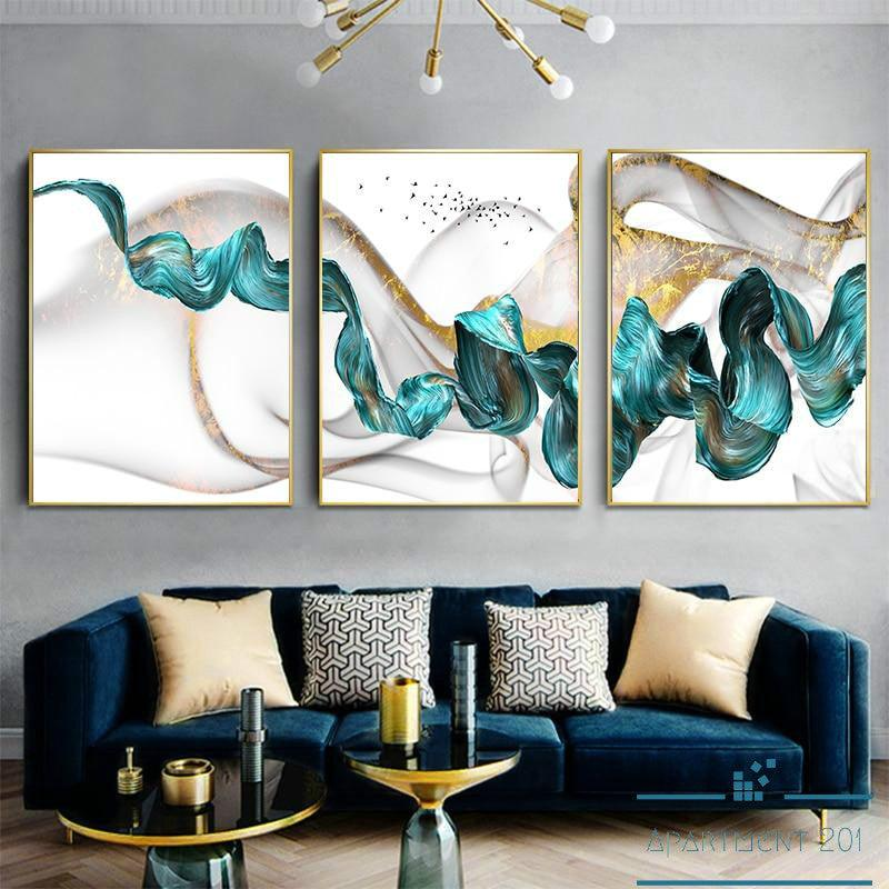 Flowing Abstract Canvas Wall Art - Apartment 201
