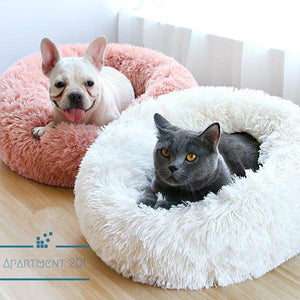 Fluffy Plush Pet Cushion Bed - apt201