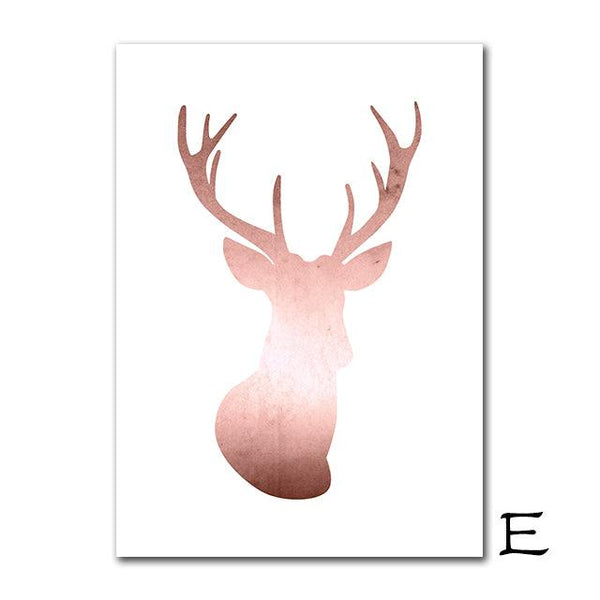 Nordic Rose Gold Canvas Wall Art - Apartment 201