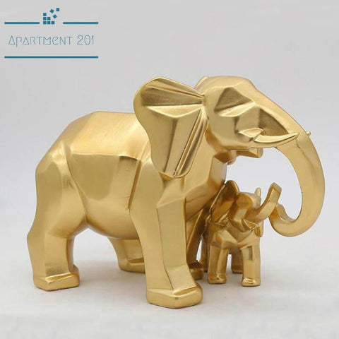 Geometrical Elephant Figurine - Apartment 201