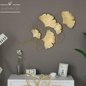 Ginkgo Leaves Metal Wall Art - Apartment 201