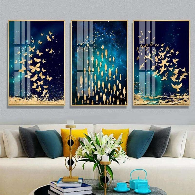 Golden Essence Canvas Wall Art - Apartment 201