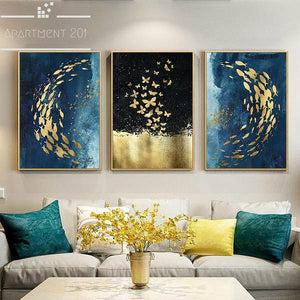 Sublime Beauty Golden Canvas Wall Art - apt201