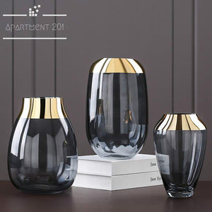 Golden Foil Deco Vase - Apartment 201
