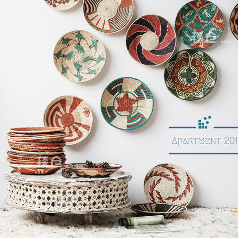 Handmade Tribal Woven Wall Basket - Apartment 201