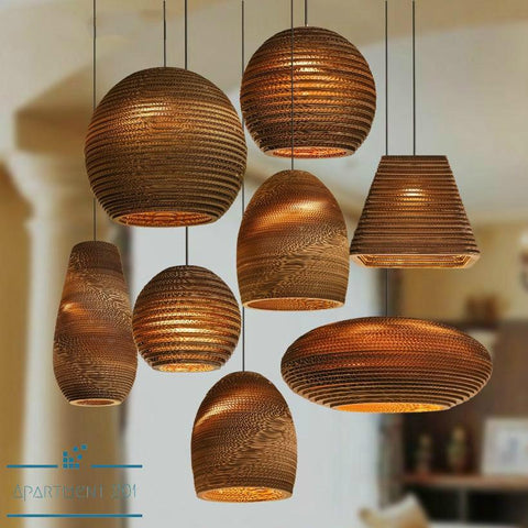 Hand Woven Bamboo Pendant Lights - Apartment 201
