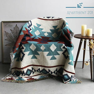Knitted Tribal Throw Blanket - Apartment 201