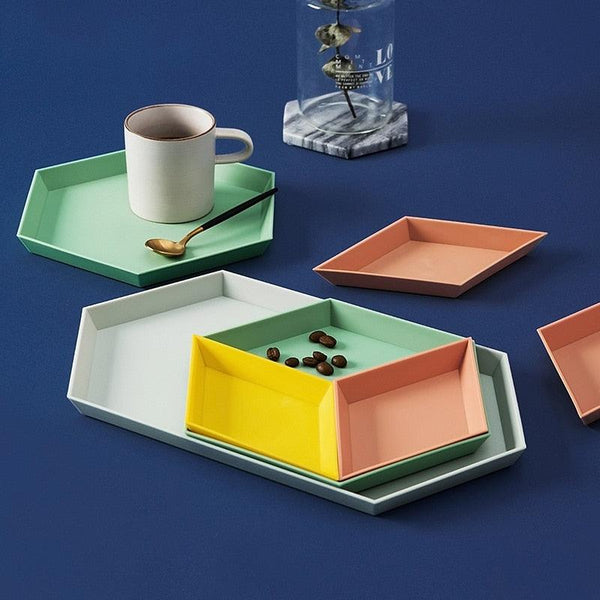 Color Me Geometric Kaleido Trays - Apartment 201