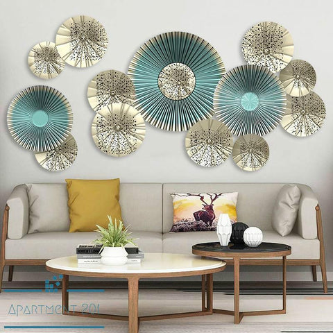 Iris Spiral Fan Wall Decal - Apartment 201
