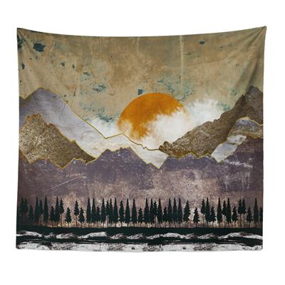 Abstract Nordic Landscape Wall Tapestry - Apartment 201
