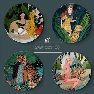 Jungle Girl Decorative Plate - Apartment 201