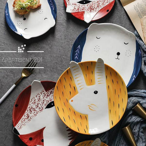 Playful Animal Plates - apt201