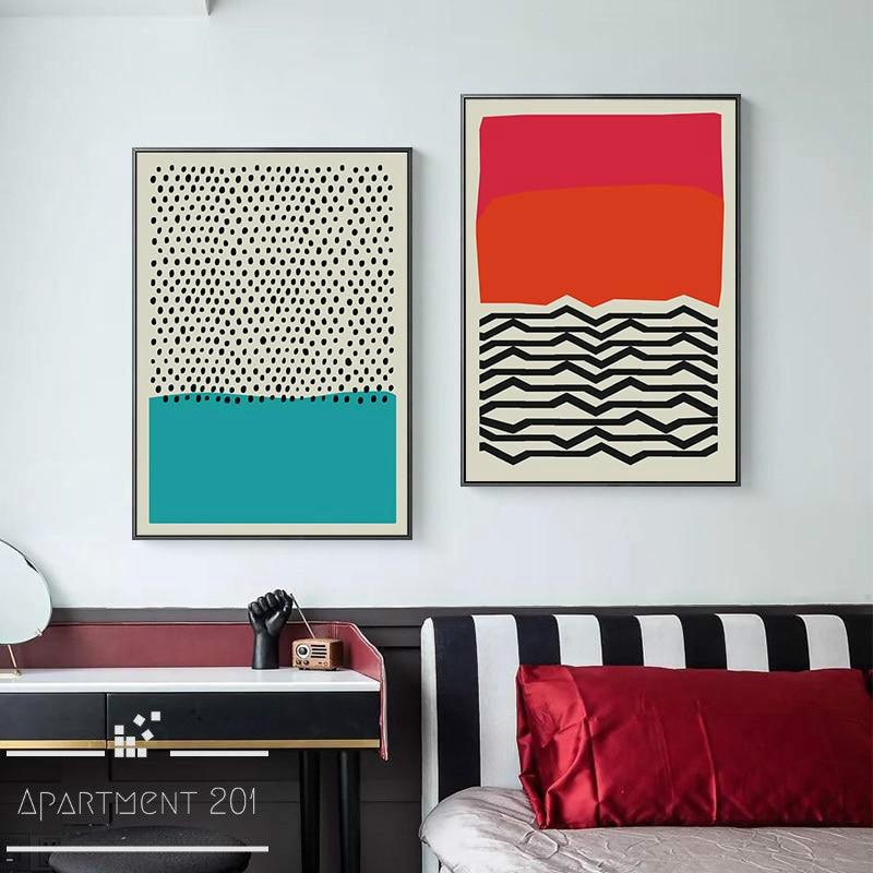 Lagom Abstract Canvas Wall Art - Apartment 201