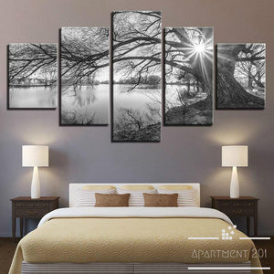 Lakeside Branch Canvas Wall Art - Apartment 201