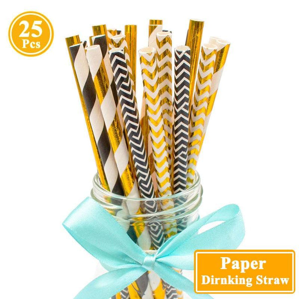 Glitzy Party Paper Straws Set - Apartment 201