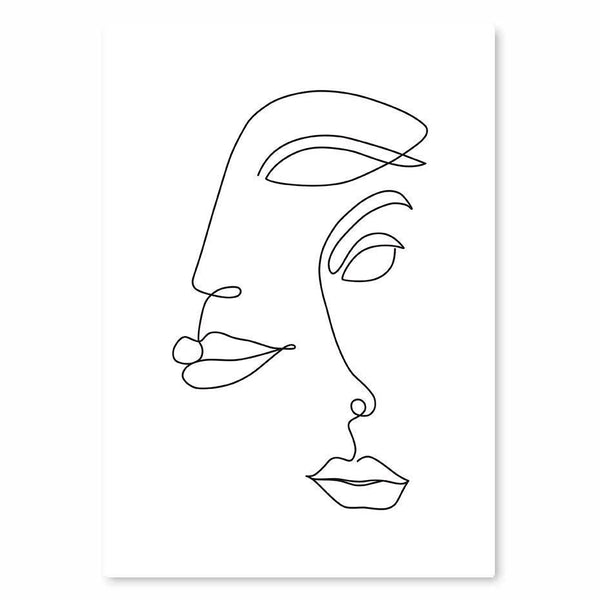 Line Sketch Canvas Wall Art - Apartment 201