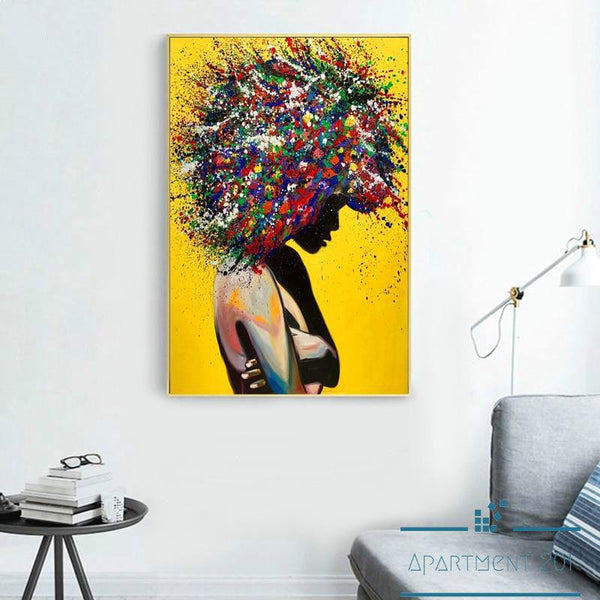 Lioness Lady Abstract Canvas Wall Art - Apartment 201