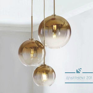 Bubble Ombre Pendant Light - apt201