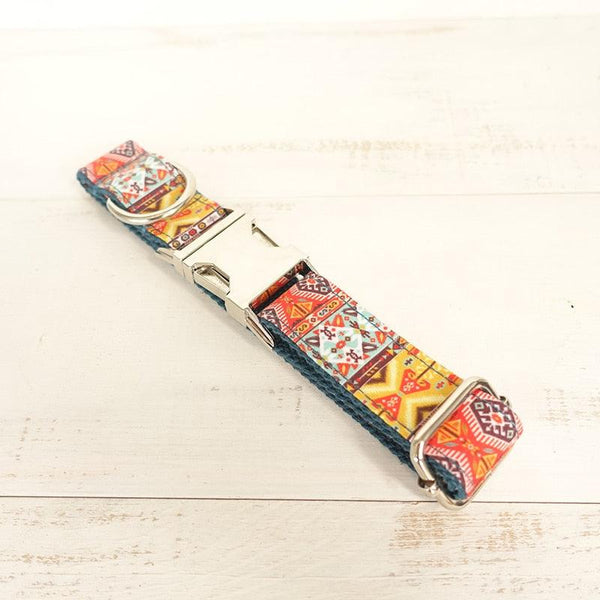 Bohemian Engraved Dog Collar / Leash Set - Apartment 201
