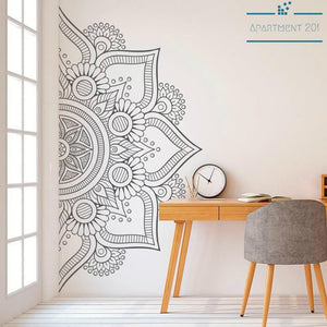 Boho Mandala Patterned Wall Decal - Apartment 201
