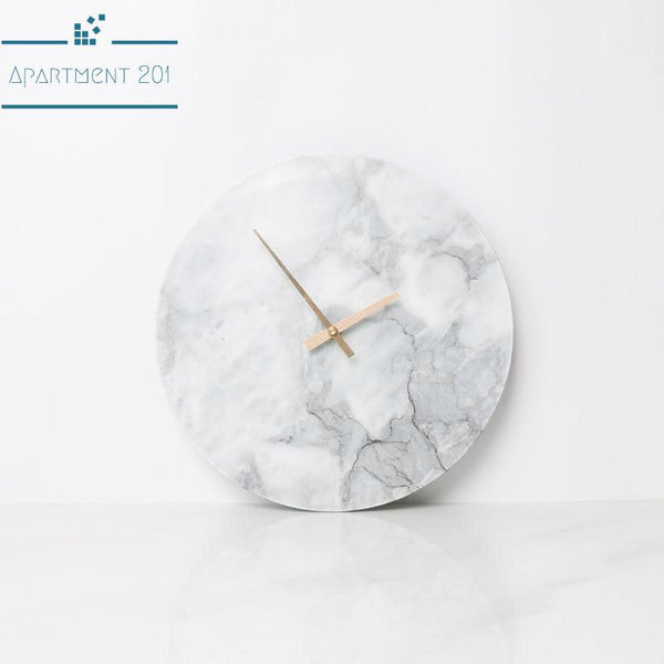 Marble Wall Clock - Apartment 201