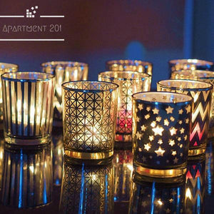 Deco Glass Candle Holders - apt201