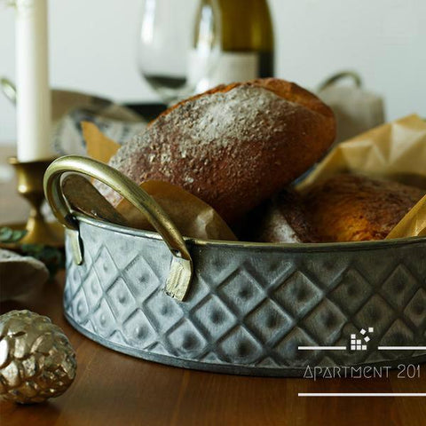 Handcrafted Iron Storage Basket - apt201