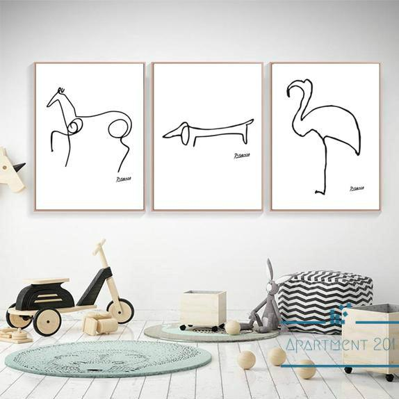 Minimalist Picasso Inspired Wall Art - Apartment 201