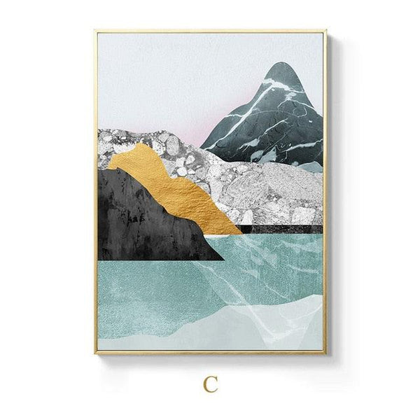 Nordic Mountain Lake Canvas Wall Art - Apartment 201