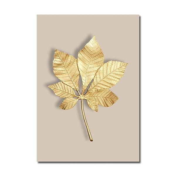 Charmed Golden Leaves Canvas Wall Art - Apartment 201