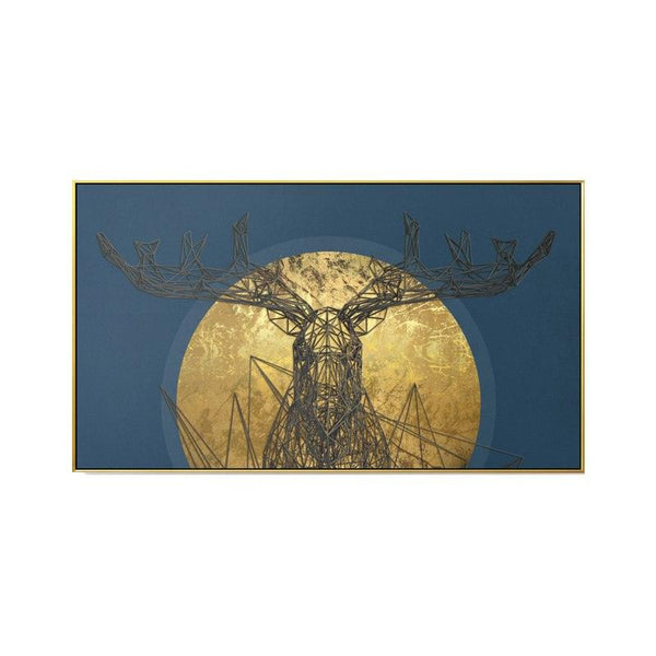 Nordic Elk Canvas Wall Art - Apartment 201