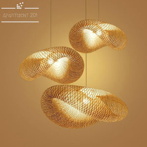 Modern Bamboo LED Pendant Lights