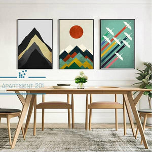Minimalist Abstract Peak Canvas Wall Art - Apartment 201