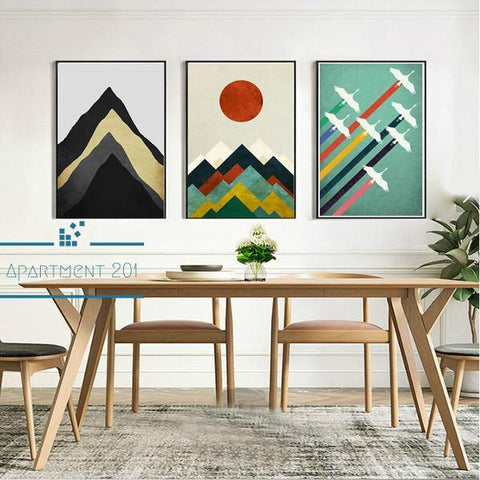 Minimalist Abstract Peak Canvas Wall Art - apt201