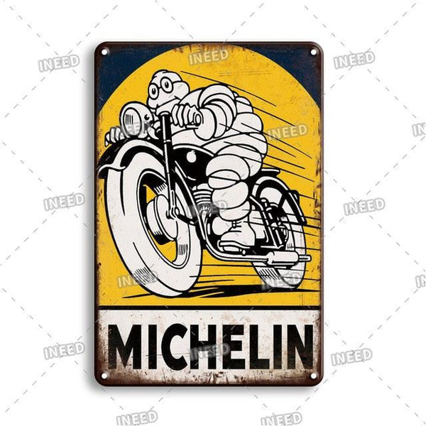 Vintage Racing Team Metal Plaque - Apartment 201