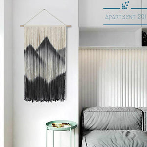 Mountain Peak Macrame Tapestry - Apartment 201