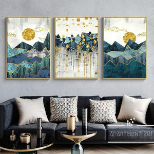 Nordic Geo Peak Canvas Wall Art - Apartment 201