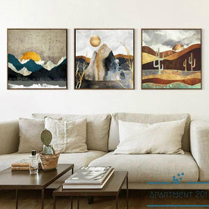 Silent Tranquility Abstract Canvas Wall Art - apt201