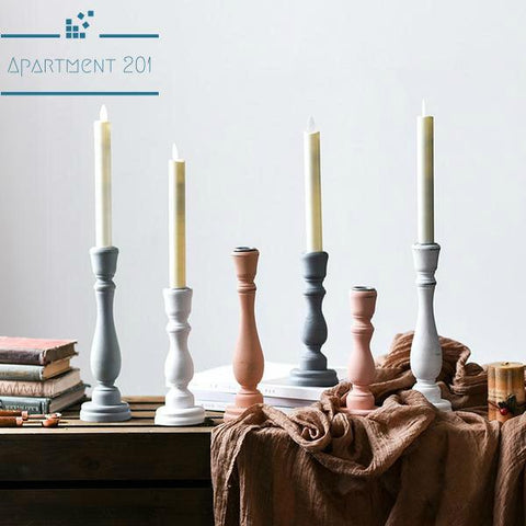 Moroccan Styled Pillar Candlestick Holders - apt201