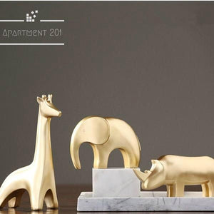 Gleam Dream Golden Animal Figurines - apt201