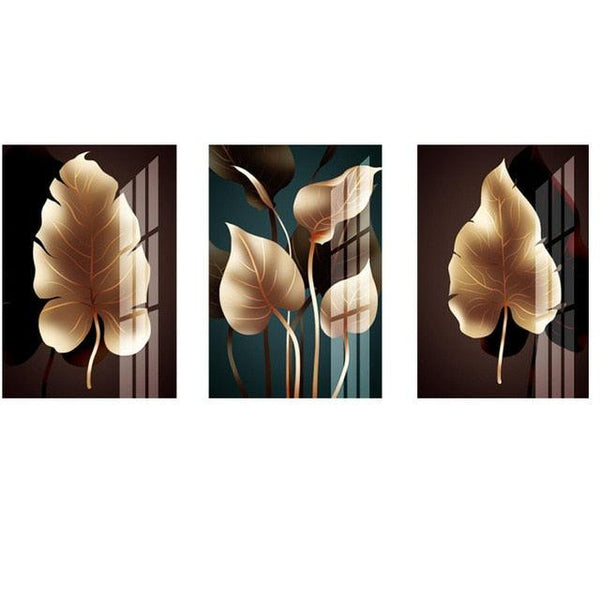 Nordic Modish Leaves Canvas Wall Art - Apartment 201