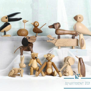 Nordic Wooden Animal Craft Collection - Apartment 201