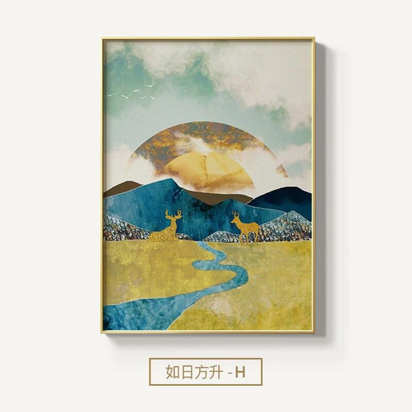 Dusk to Dawn Nature Canvas Wall Art - apt201