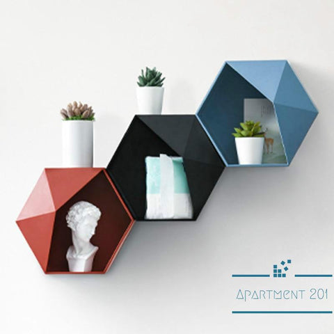 Nordic Color Pop Hexagonal Shelf - Apartment 201