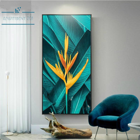 Nordic Magical Leaf Canvas Wall Art - Apartment 201